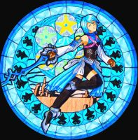 Stained glass Aqua by SailorMiha