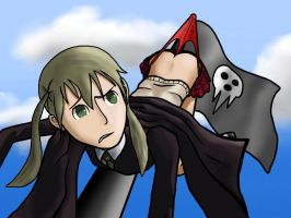 Maka High Up by arbitraryDrachen