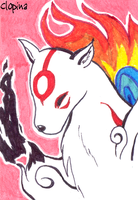ACEO 2 - Amaterasu by Clopina