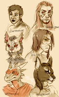 Skyrim OC sketch dump 2 by SpaceSmilodon