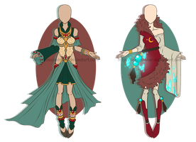...MayaEmpress and JadeCocon... ADOPTS // CLOSED by Seelenbasar