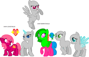 Collab Group Shiny Pony (BASE OR COLLAB) by berrynight123-cat