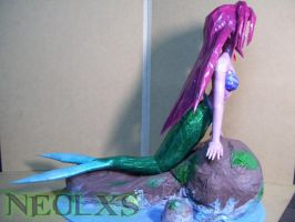 Ariel Mermaid Papercraft 3 by Neolxs