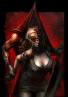 Red pyramid thing by mettyori