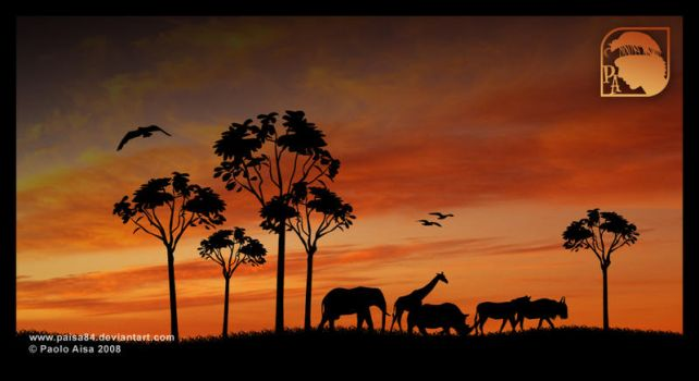 African animals by paisa84