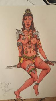 Dejah Thoris (book version w/o background) by SharonIllumined