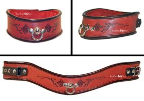 another wave collar with roses by leatherforfun