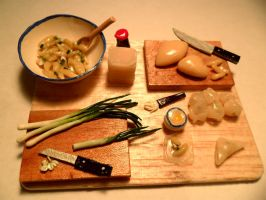 Won Ton Preparation by kayanah