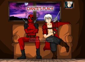Dante and Deadpool Chatting by mykhelanghelo