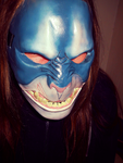 Moster Mask Blue by foxdog77