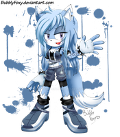 Gift: Snow the wolf by BubblyFoxy