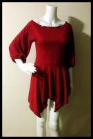 Red Shirt Dress by Mink-the-Satyr
