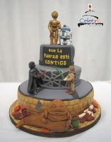 Star Wars cake by The-Nonexistent