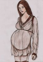 Pregnant Jedi by lordtator