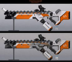 D9 Assault Rifle: C4D File by DudQuitter