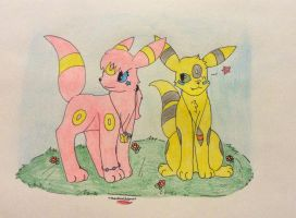 Brother and sister by TheNeonUmbreon