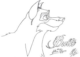 Balto - my father figure (sketch) by MortenEng21