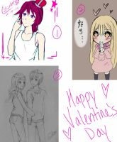 Valentine's Day Art Dump by YukiChanx3