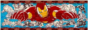 16 cards IRONMAN2 puzzle by gammaknight
