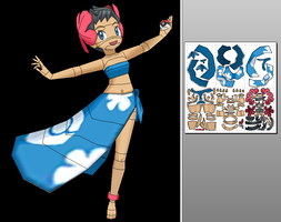 Elite 4 - Phoebe (Pokemon) Papercraft+ Unfold Info by Sabi996