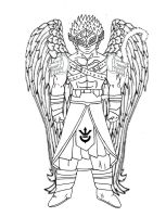 Saiyan Angel [Male] (Sketch) by Rojoneo