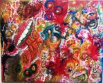 Blood Ties (Found Painting 2011) by TB8S