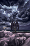 Storm by the Sea by past-liam