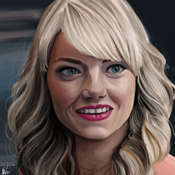 Emma Stone / Krita Painting by theclumsyandshy