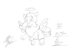 All Dogs Go To Heaven - Angel Puppy by MortenEng21