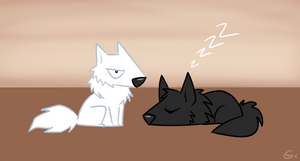 Lil Wolf pups by HellLemur