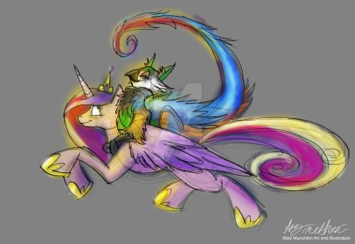 30  Minute draw challenge Cadence and Curly Tail by Mad--Munchkin