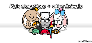 Main Characters + Other Animals by JinxBunny