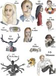 Drawing Per Episode-Hannibal Season 2 by hatoola13