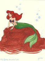 Ariel sketch in markers redone by gizmar