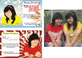 nia n karina birthday cards by Dolph17