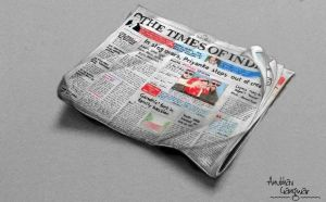The Times Of India Newspaper - Drawing by Anubhavg