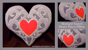 Skyward Sword Heart Piece pillow by tavington