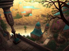 Secret Mountain City by Industrial-Forest