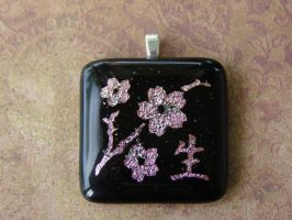 Cherry Blossom Branch Glass by FusedElegance