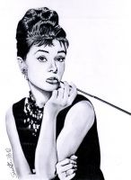 Audrey Hepburn - Breakfast At Tiffany's by SimoneFiani