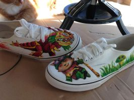 League of Legends hand-painted shoes #2 by NoreyDragon