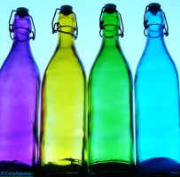 rainbow bottles by IamNasher