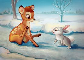 Bambi and Thumper by Lis-Alis