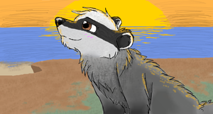 Midnight the Badger by CascadingSerenity