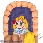 Lonely Rapunzel by isnani