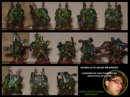 Nurgle Plague Bearers 2 by TheGoldenCrowbar