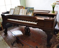 STOCK - Antique Grand Piano 1 by jocarra
