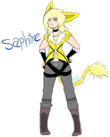 saphire the jolteon. by xBadgerclaw