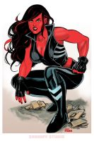 Red She Hulk by DarthTerry