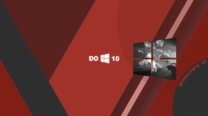 Windows 10 Wallpaper Material Red by zhalovejun